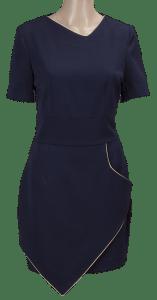 sukienka czarna z jasnym obwodem